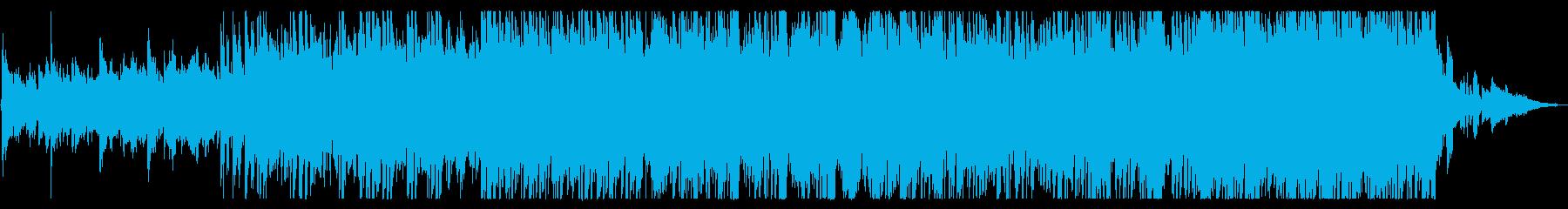 カントリー調の、さわやかで活気のある曲の再生済みの波形