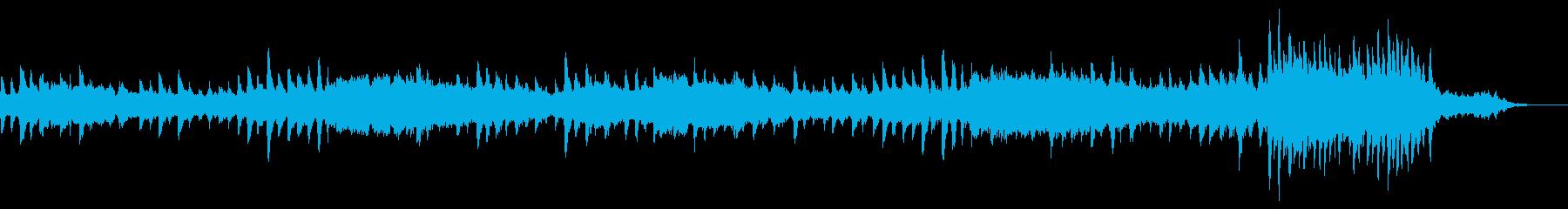 ピアノとシンセを使用したアンビエントの再生済みの波形