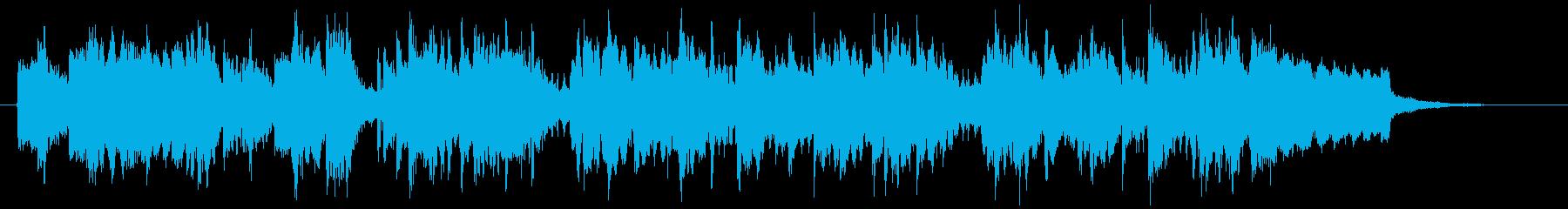 ミディアムテンポの爽やかなフルート曲の再生済みの波形