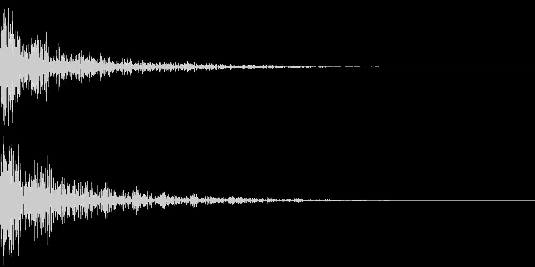 ドーン-51-2(インパクト音)の未再生の波形