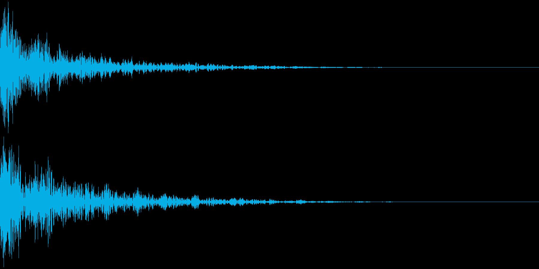 ドーン-51-2(インパクト音)の再生済みの波形
