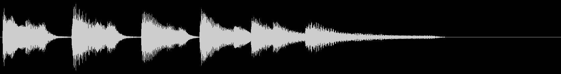 【ジングル】ポップで落ち着いたピアノソロの未再生の波形