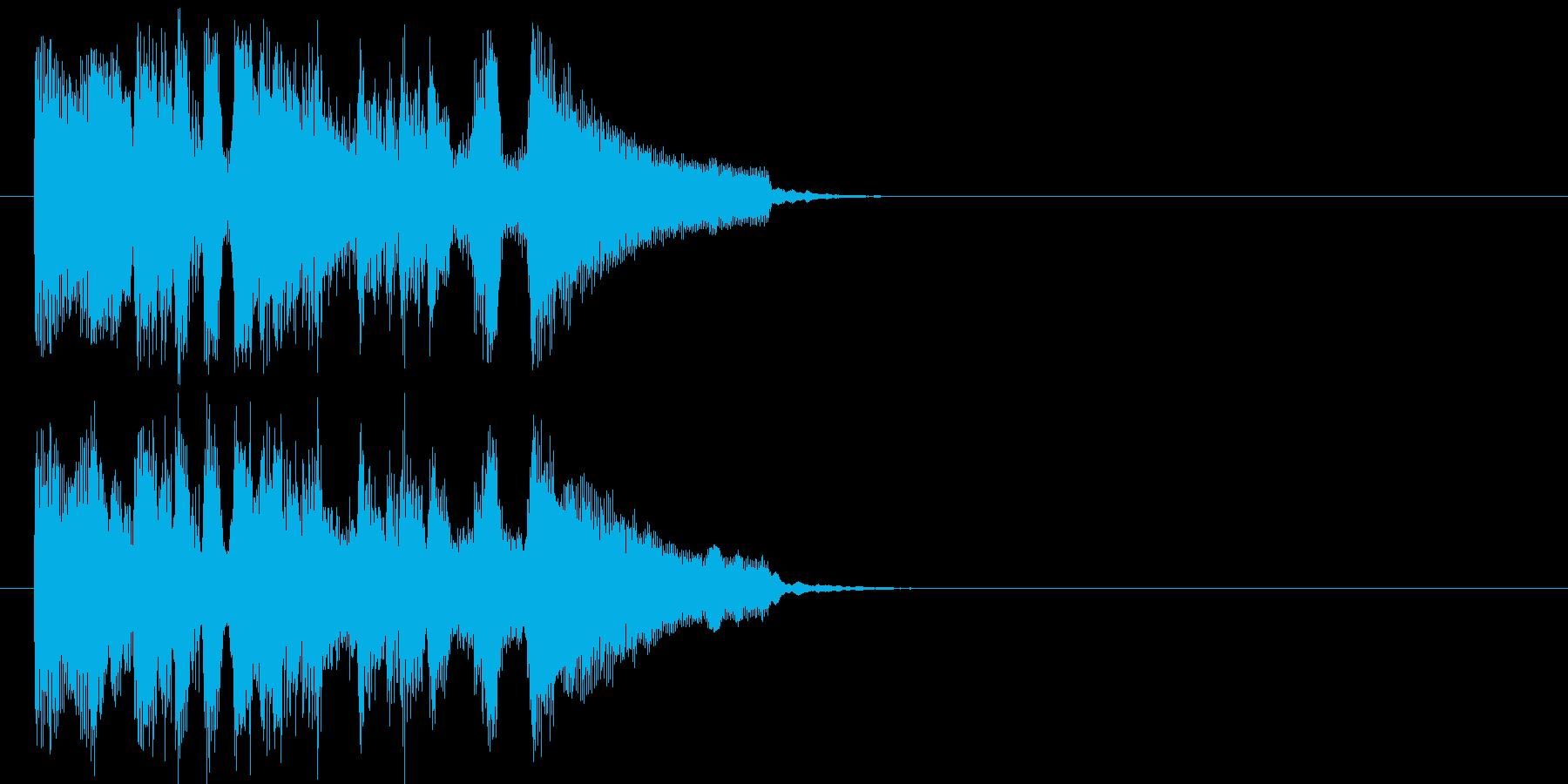 場面転換 テーマ さわやか いきいきの再生済みの波形