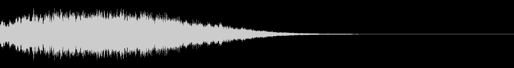 ホラー系の不気味な音(ノイズ有り)1の未再生の波形