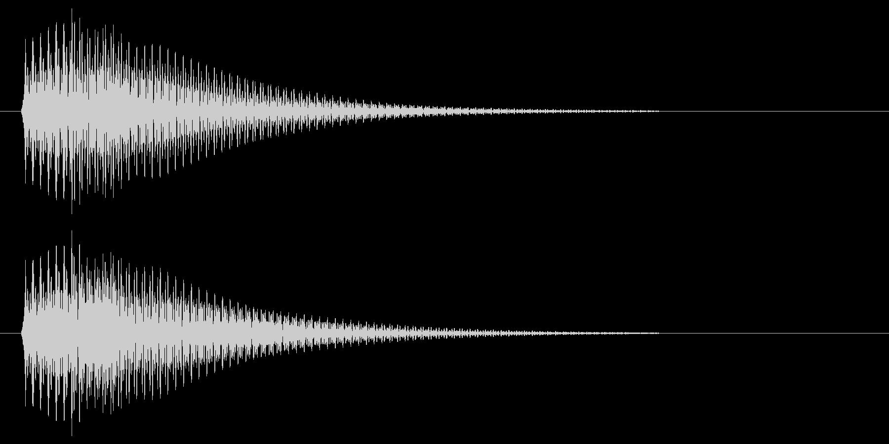 ポロン(すぐ減衰する柔らかめのシンセ音)の未再生の波形