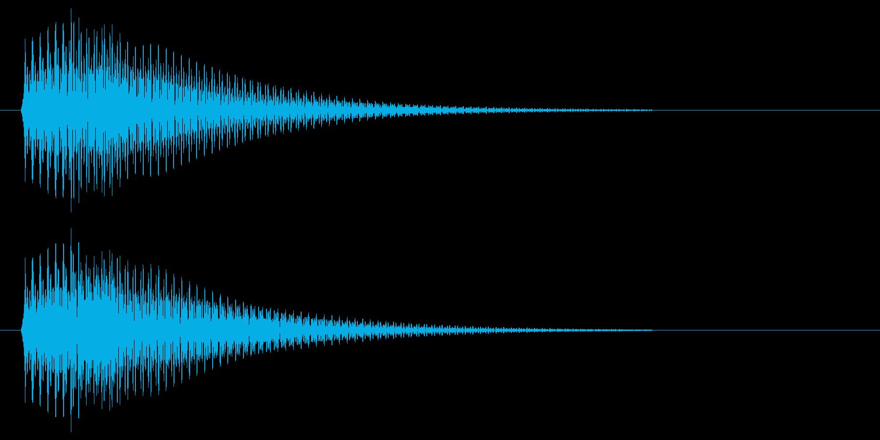 ポロン(すぐ減衰する柔らかめのシンセ音)の再生済みの波形
