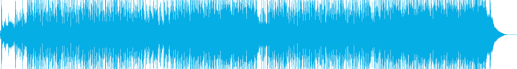 スピリチュアルな雰囲気のR&Bの再生済みの波形