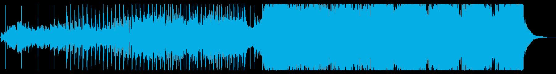 大自然をイメージしたアコースティクEDMの再生済みの波形