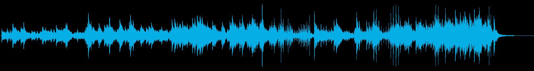 ピアノ 風景 映像 ラウンジの再生済みの波形