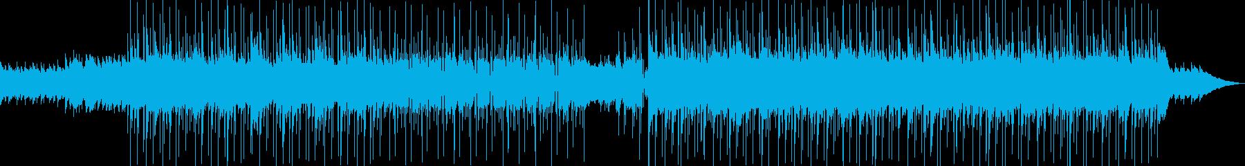 疾走感あるアコースティックギターの曲の再生済みの波形