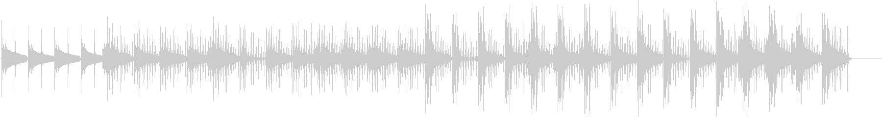 無機質な感じの短い曲の未再生の波形
