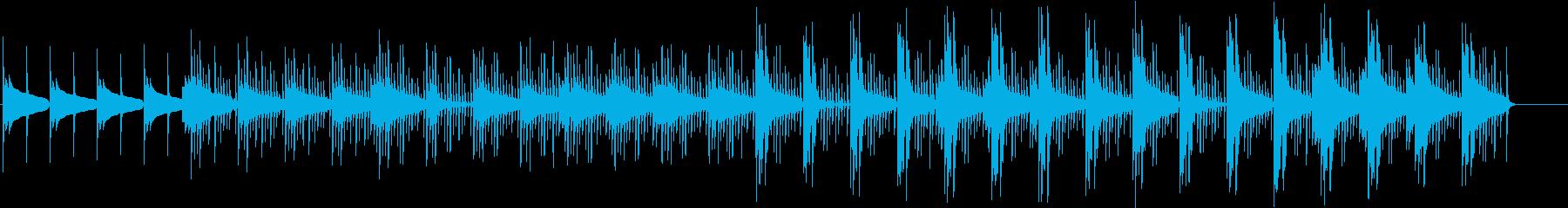 無機質な感じの短い曲の再生済みの波形