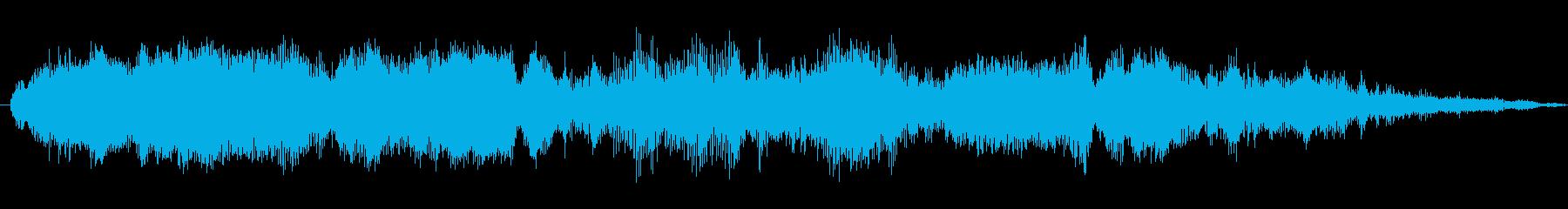 中空スクレイピング鳴きの再生済みの波形
