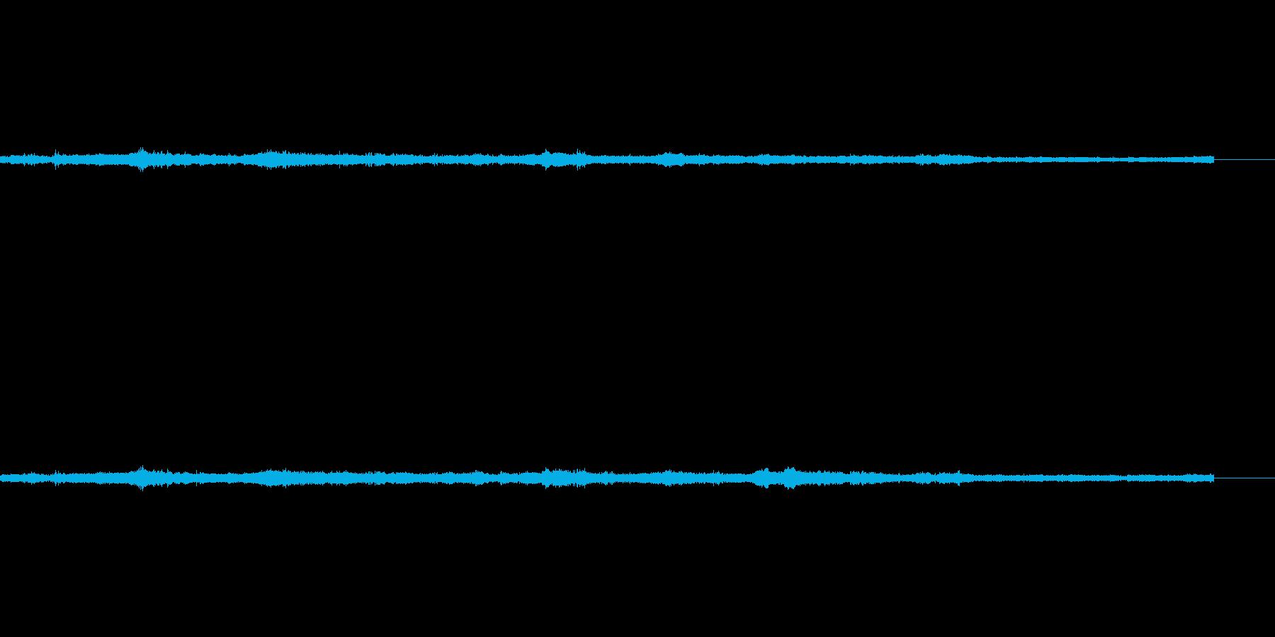 風の音の再生済みの波形
