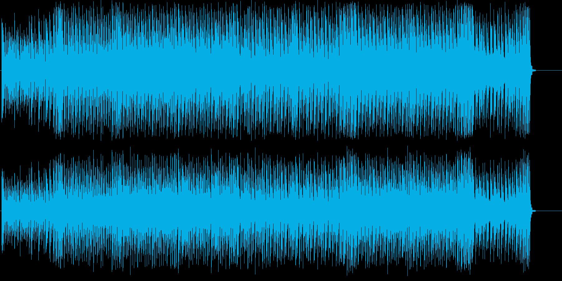 スピーディで近未来的なテクノの再生済みの波形