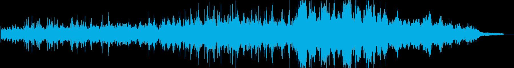 映像】穏やかで落ち着くピアノインストの再生済みの波形