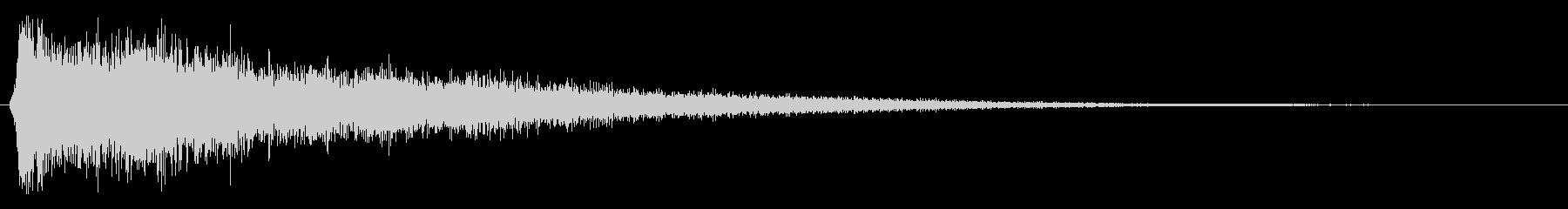 シャーン(ハイハットの音)の未再生の波形