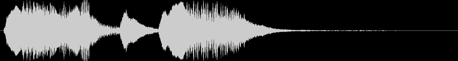ファゴットの残念な脱力系ジングルの未再生の波形