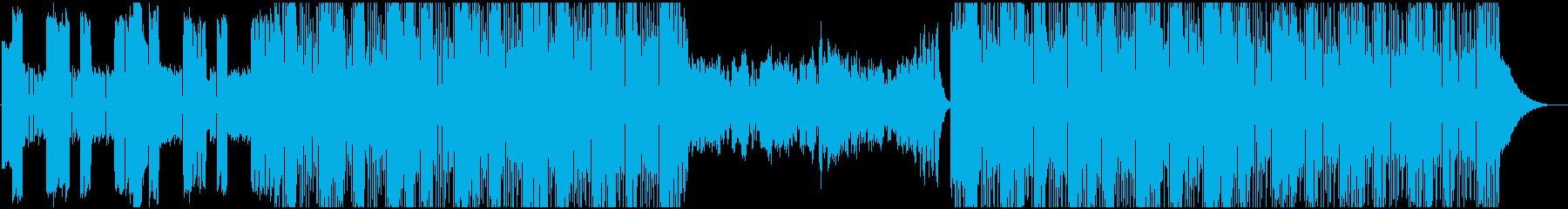 キルビル的戦闘向けデジタルロックBGMの再生済みの波形