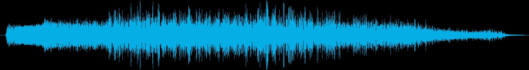 エネルギーが歪んだバズ・フー・ロングの再生済みの波形