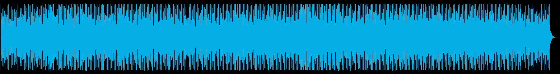 軽快で明るいトークBGM向けシンセ曲の再生済みの波形