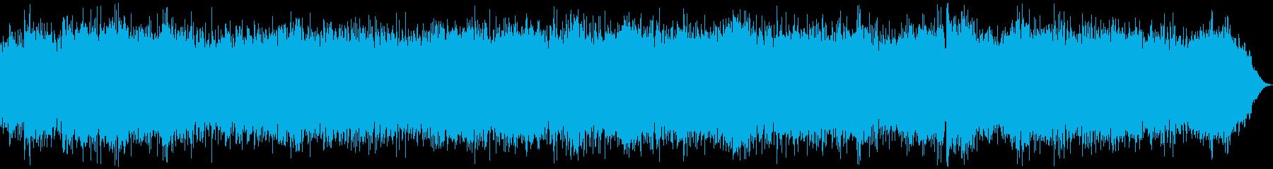 疾走感のあるエレキギターのロックの再生済みの波形