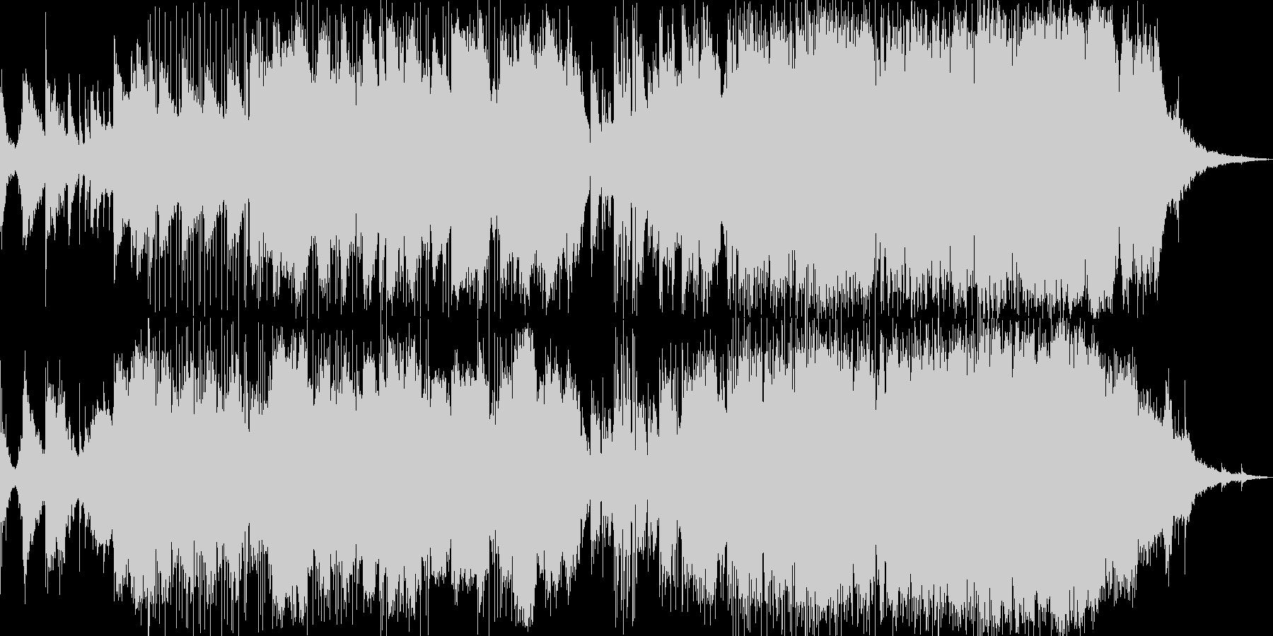 エレクトロニック 説明的 楽しげ ...の未再生の波形