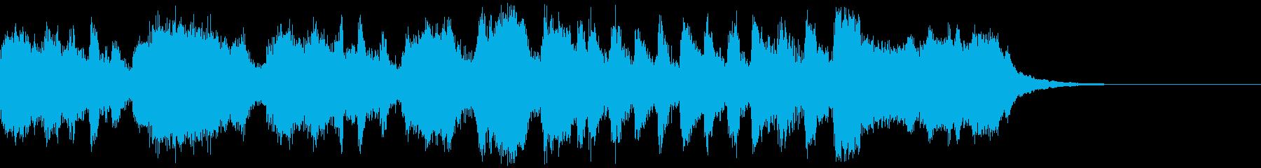 ファンファーレ 打楽器ありの再生済みの波形