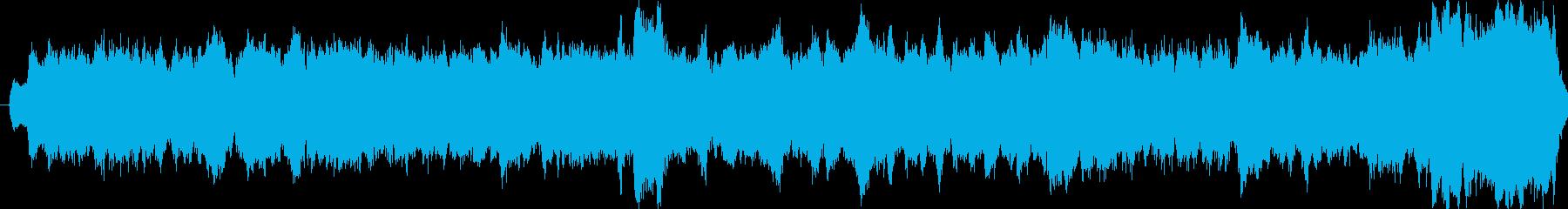 パイプオルガンの荘厳な曲です。の再生済みの波形