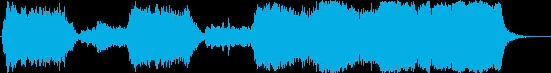 金管のみを使ったファンファーレ1の再生済みの波形