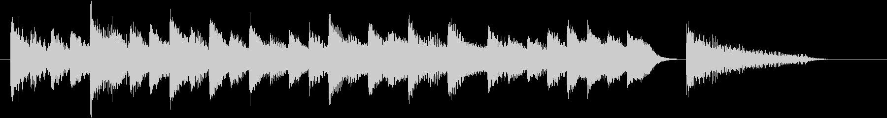 童謡・お正月モチーフのピアノジングルFの未再生の波形