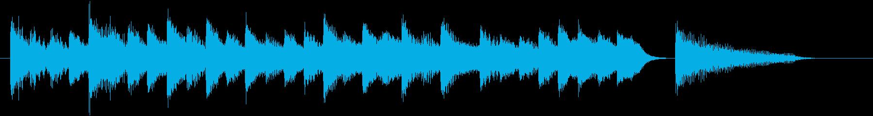 童謡・お正月モチーフのピアノジングルFの再生済みの波形