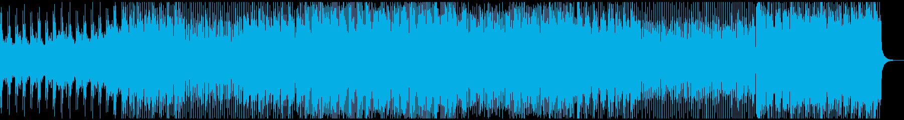 荒ぶるテクノの再生済みの波形