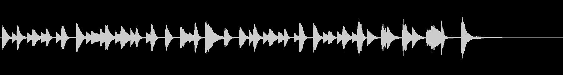 つたないピアノの可愛いジングルの未再生の波形