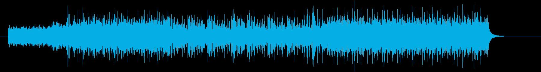 デジタルでハードなロックの再生済みの波形