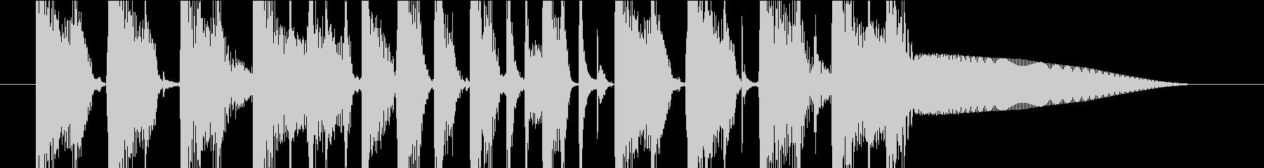 ジングル(ダンス3)の未再生の波形