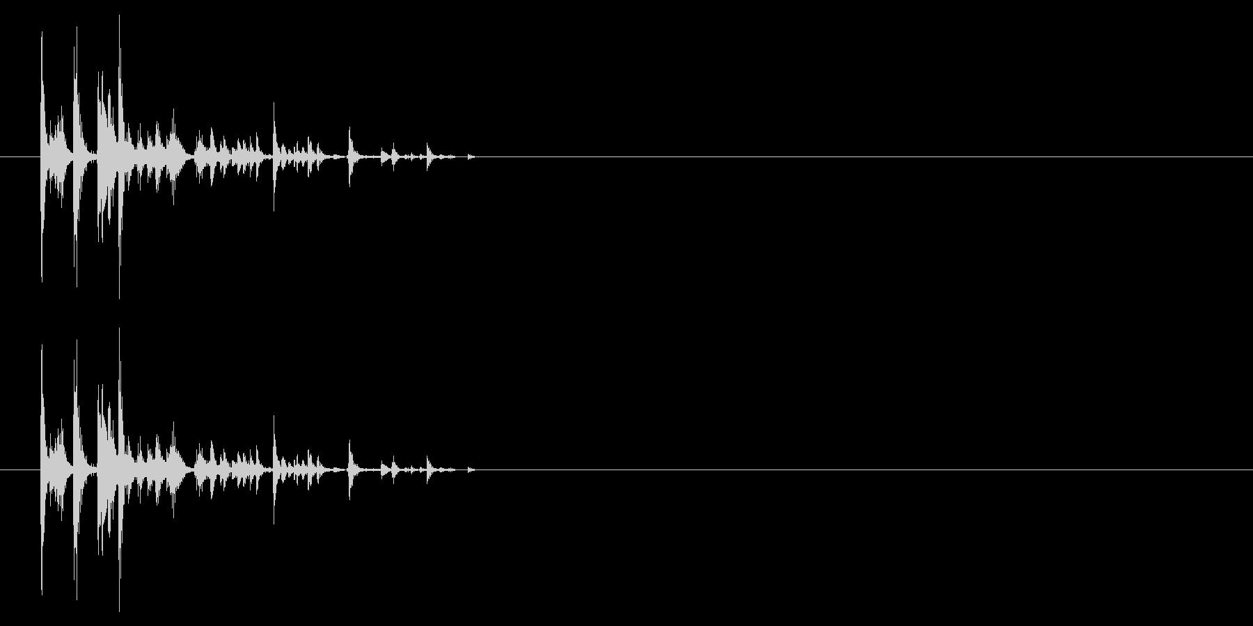 サイコロを振る/すごろく/ダイス_4個の未再生の波形