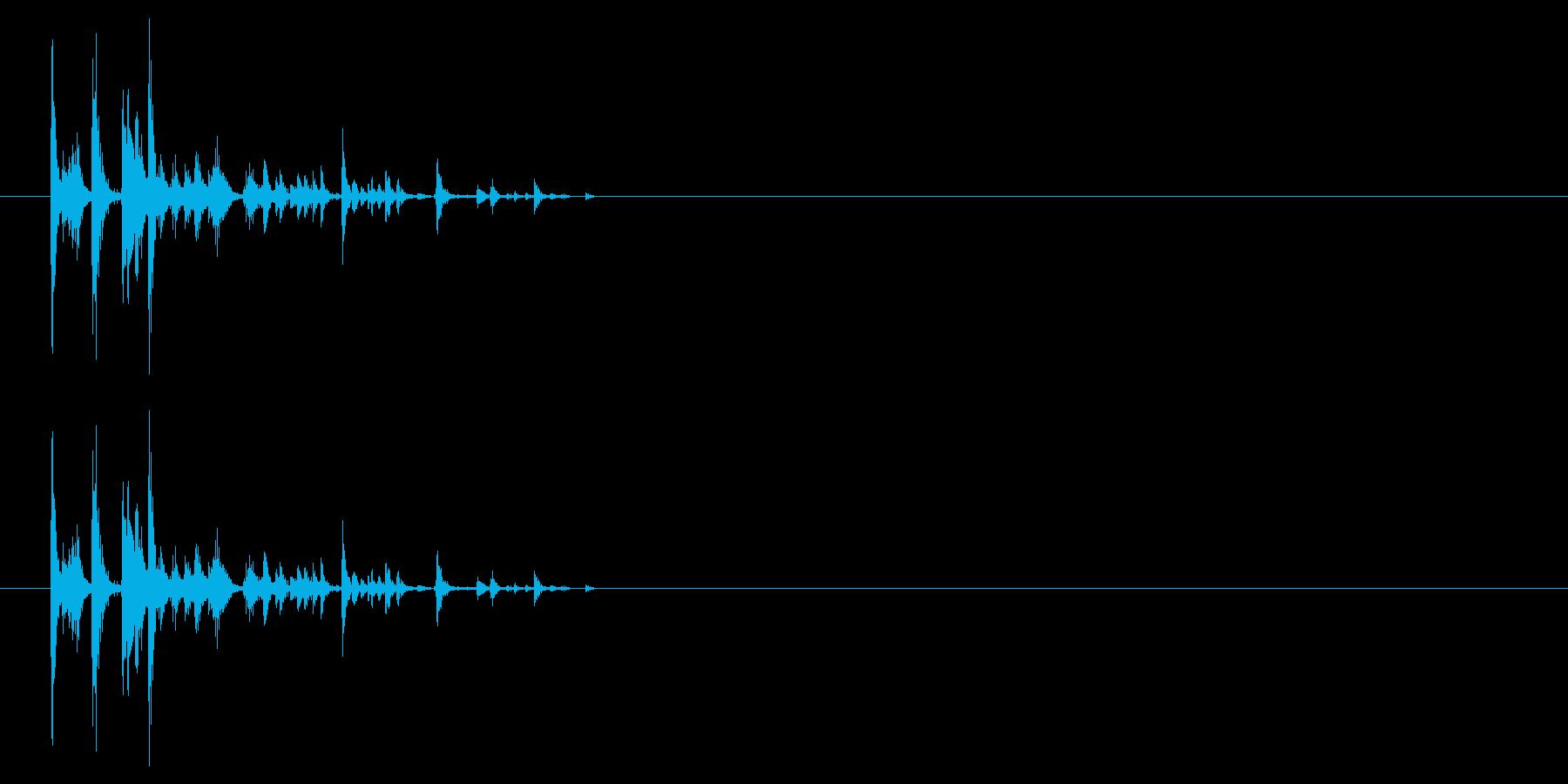 サイコロを振る/すごろく/ダイス_4個の再生済みの波形