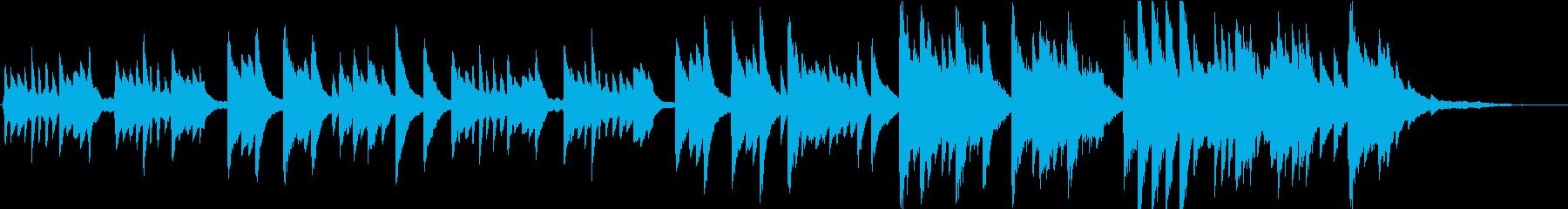 ピアノの叙情的な旋律が印象的なバラードの再生済みの波形