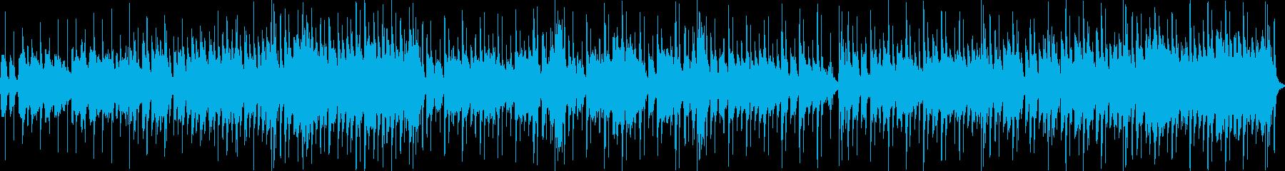 夏祭りの曲の再生済みの波形