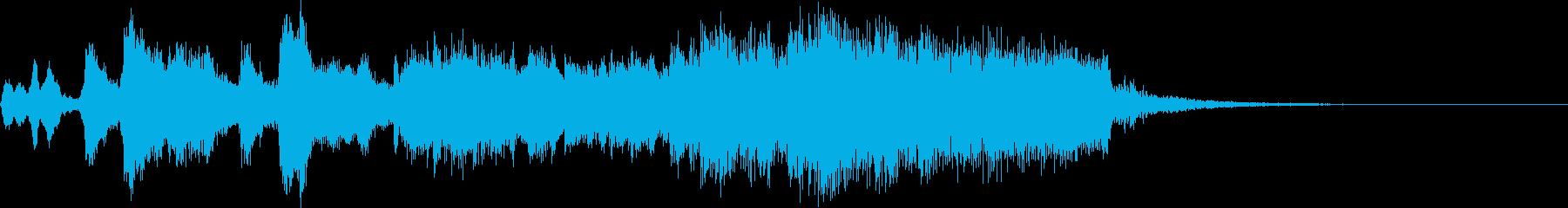 ファンファーレ 迫力オーケストラ風の再生済みの波形