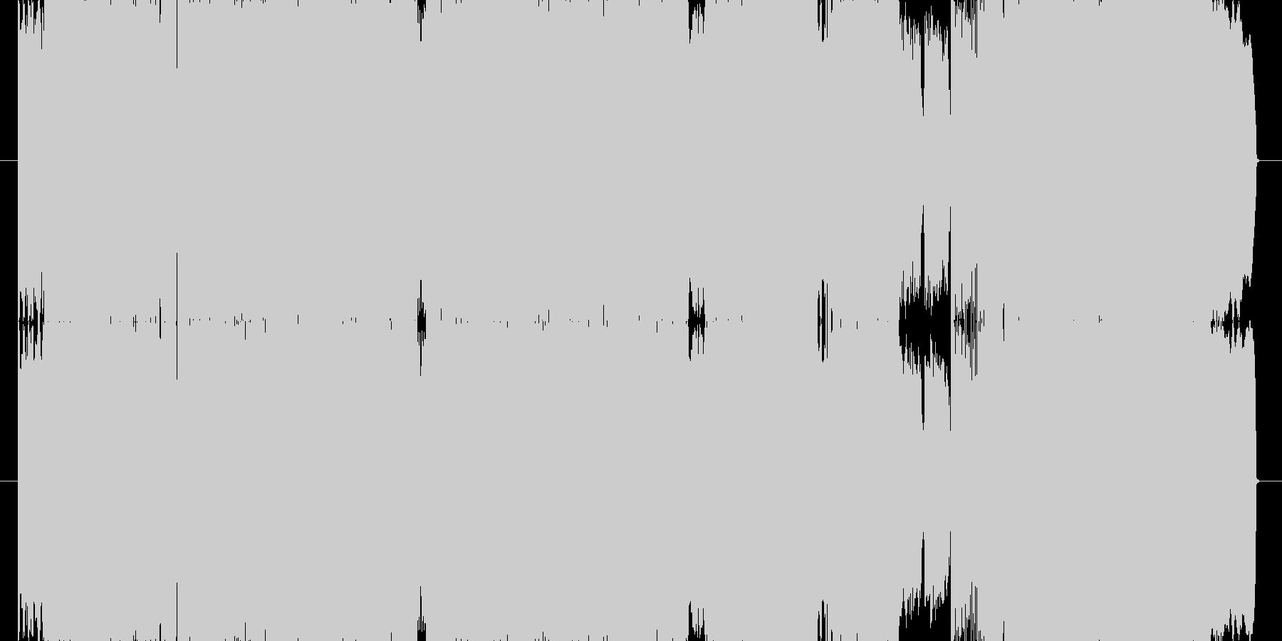 疾走感のあるロックチューンの未再生の波形