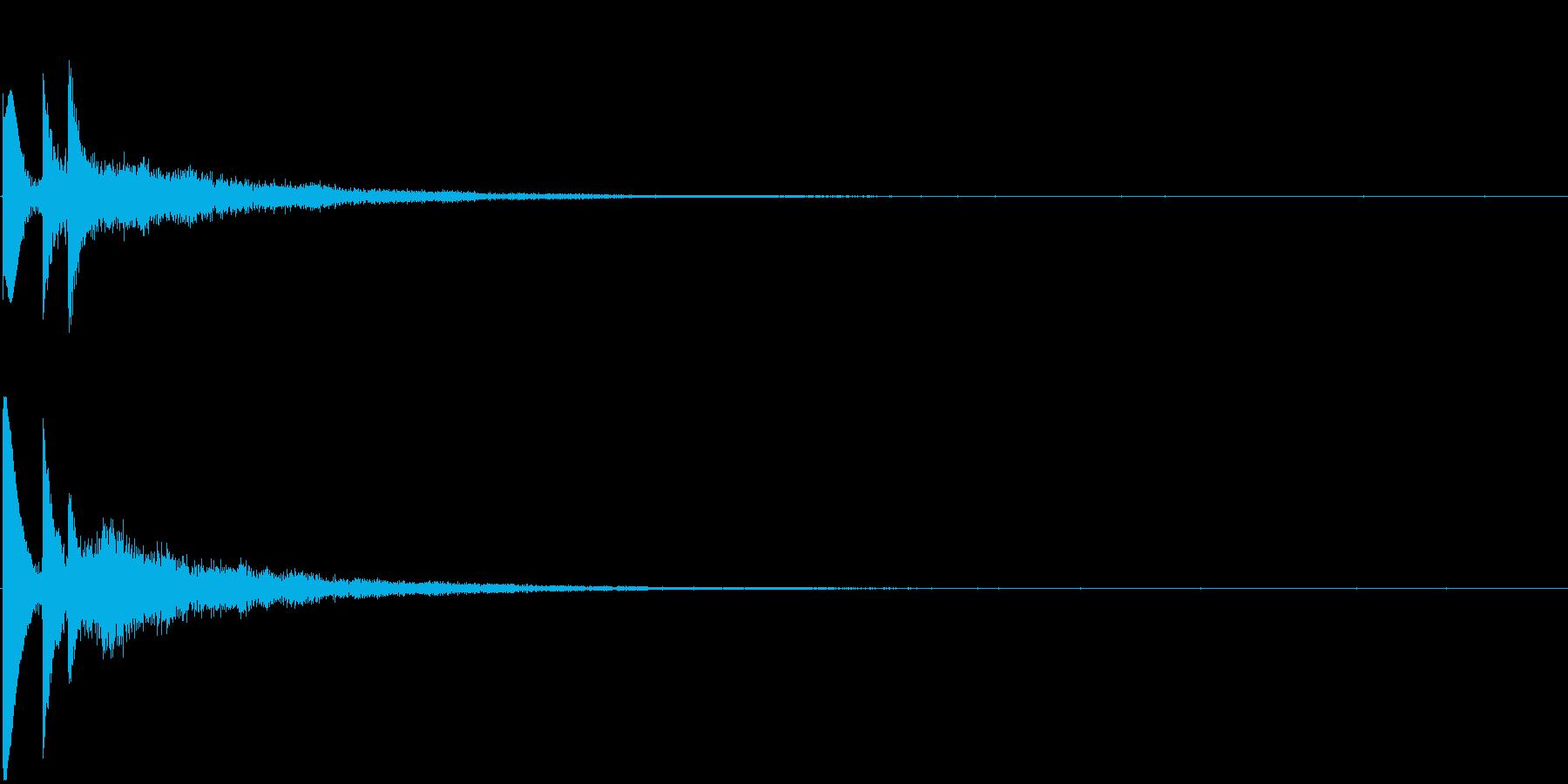 ポピポン パピポン お知らせ音 吹き出しの再生済みの波形
