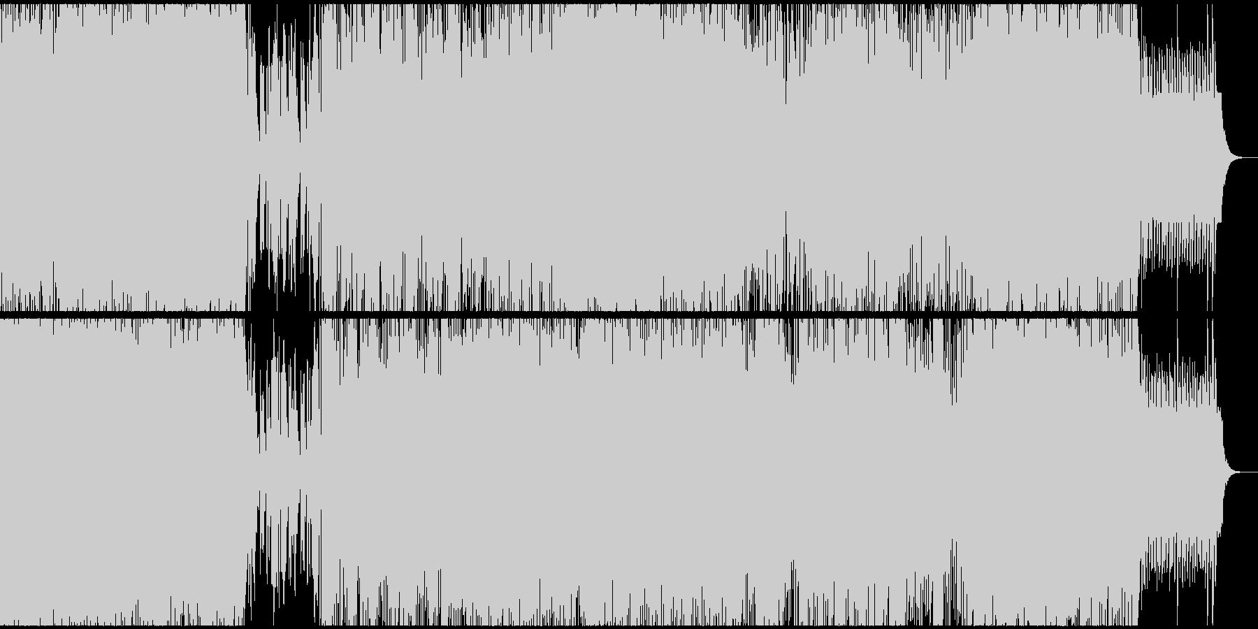シュールで軽快メロディアステクノサウンドの未再生の波形
