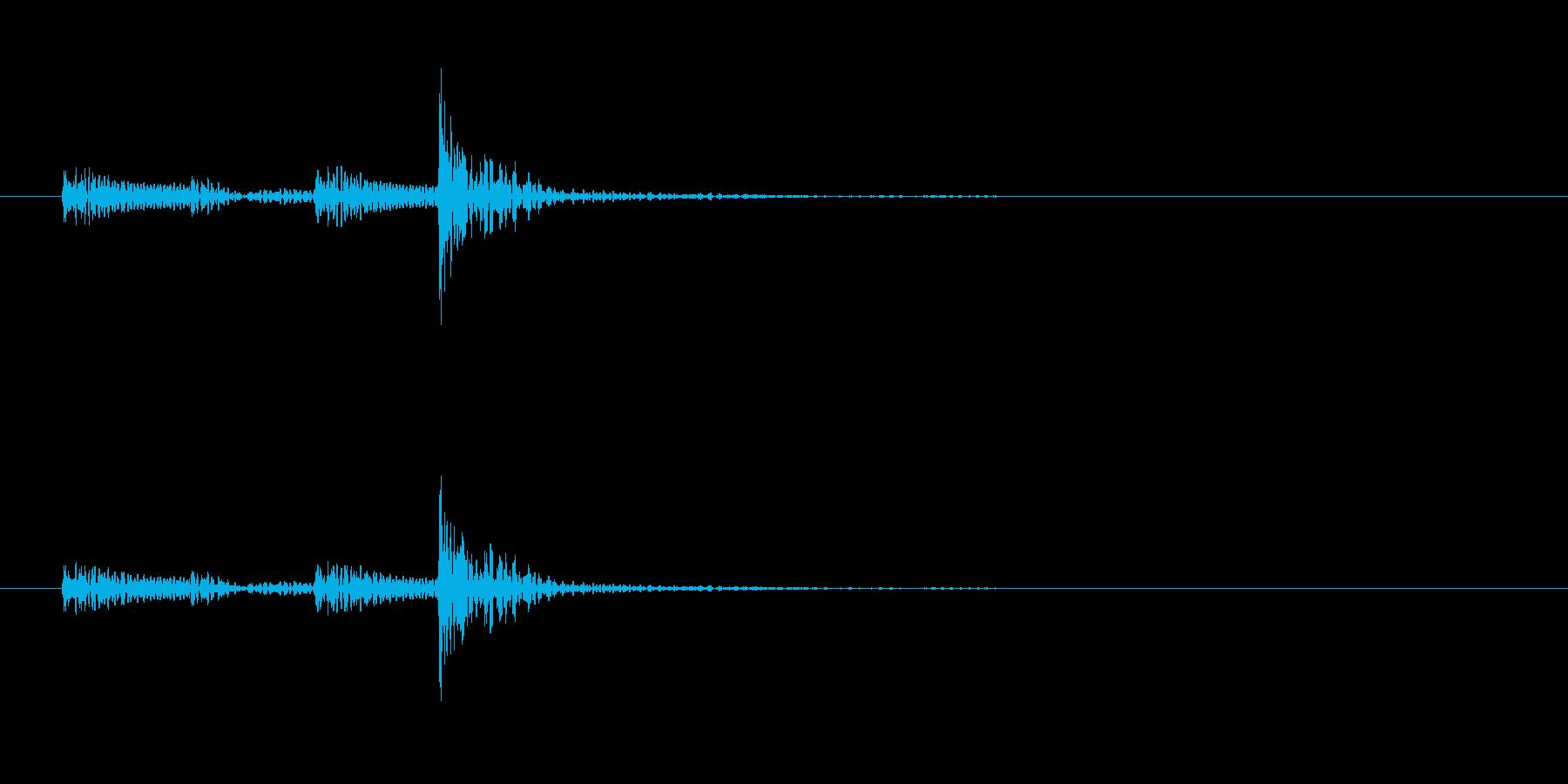 「ドン…」和太鼓の大太鼓のフレーズ音の再生済みの波形