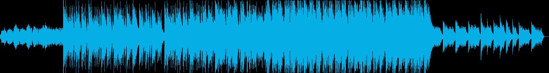 ドラマチックなストリングスが特徴のBGMの再生済みの波形