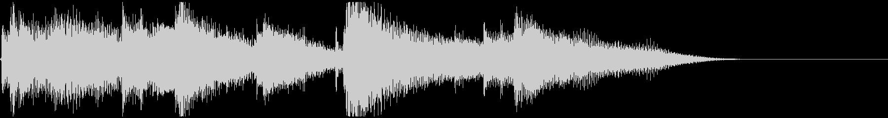 CM,エンディング風ボサノバギターの未再生の波形