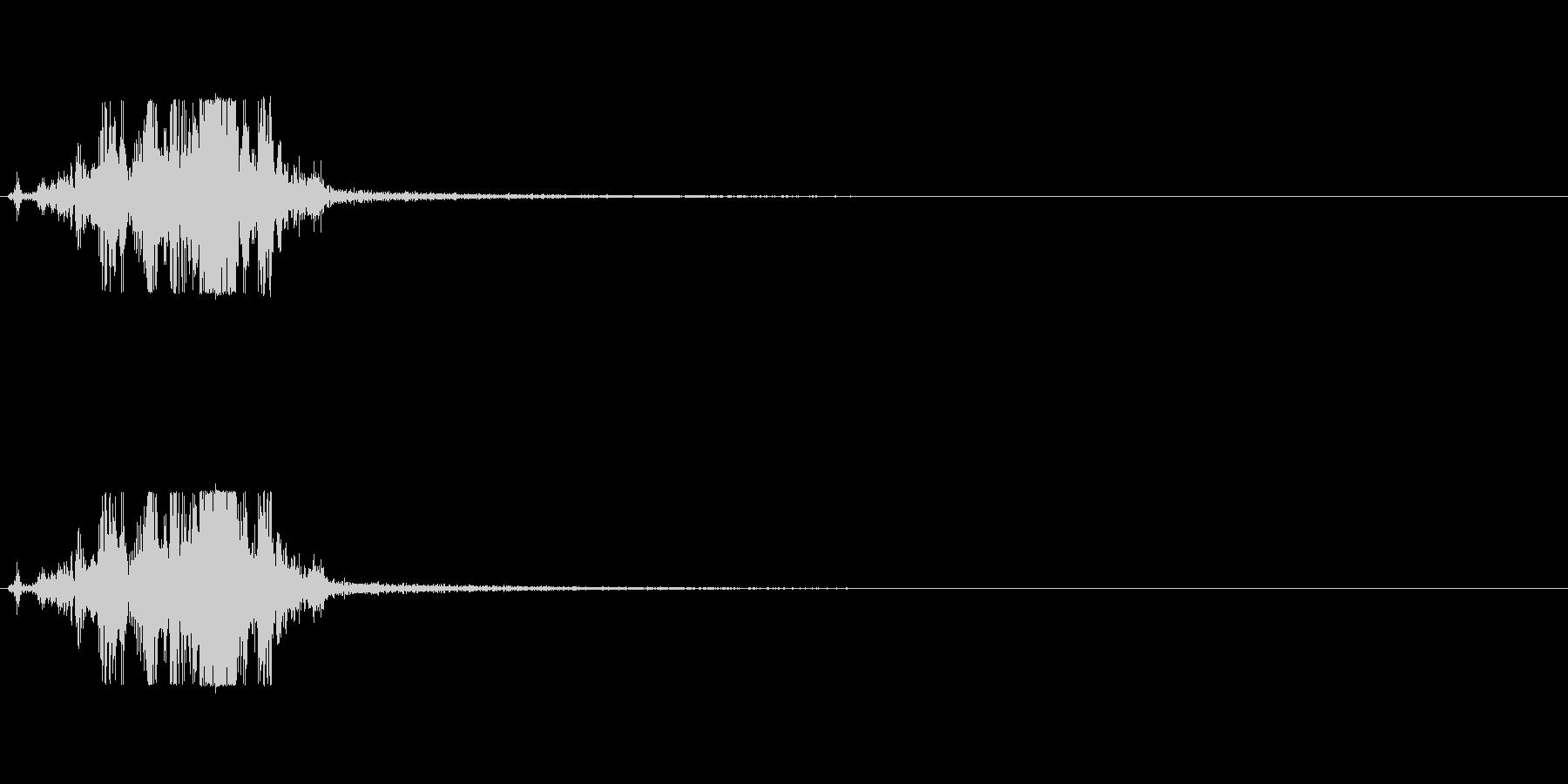 マント-1 (バサッ)の未再生の波形