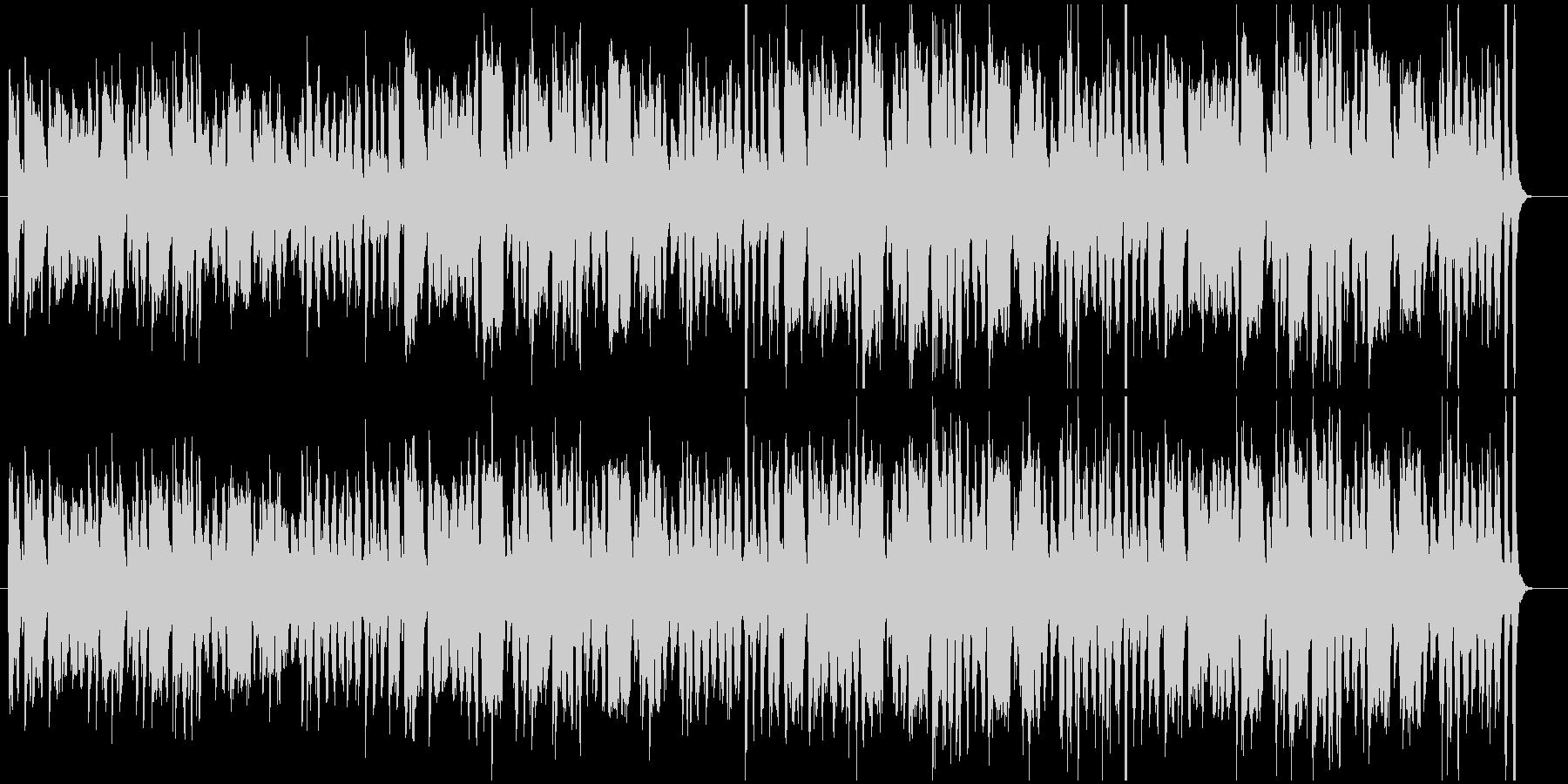 ブギウギ風の陽気なBGMの未再生の波形