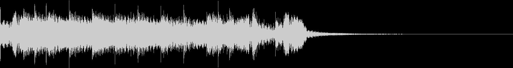 CM 尺八と和太鼓の短め繋ぎジングルの未再生の波形